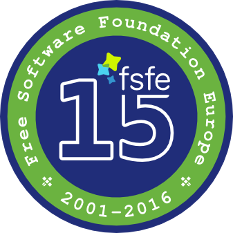 FSFE 15 Years badge
