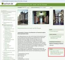 Justice ministry Sachsen