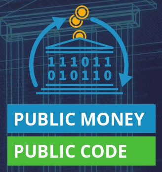 The logo of the 'Public Money, Public Code' campaign