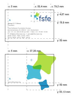 Carte De Visite FSFE Logo A Typographie