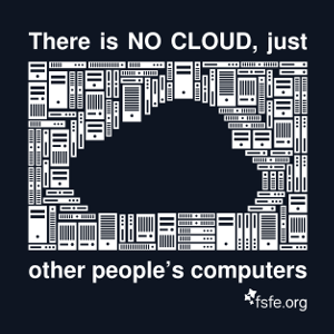 A cloud consisting of lots of small computers