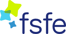FSFE logo, via the FSFE website.