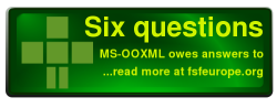Six questions about Microsoft's OOXML