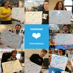 Fairphone also confessed their love for Free Software