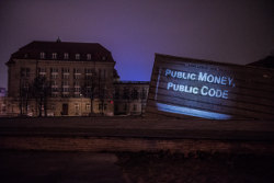 Public Money Public Code projection on the Ministry for Economic Affairs and Energy